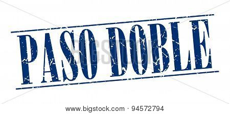 Paso Doble Blue Grunge Vintage Stamp Isolated On White Background