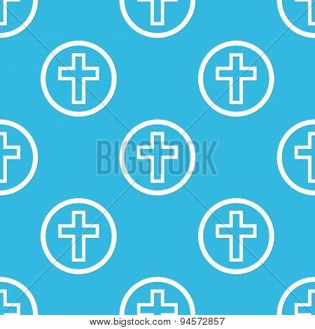 Cross sign blue pattern