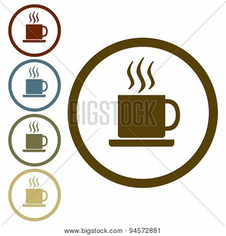 Coffee cup icon or sign. Vector illustration.