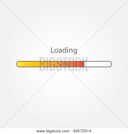 Progress loading bar. Infographic design element.