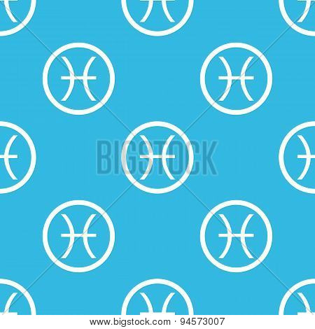 Pisces sign blue pattern