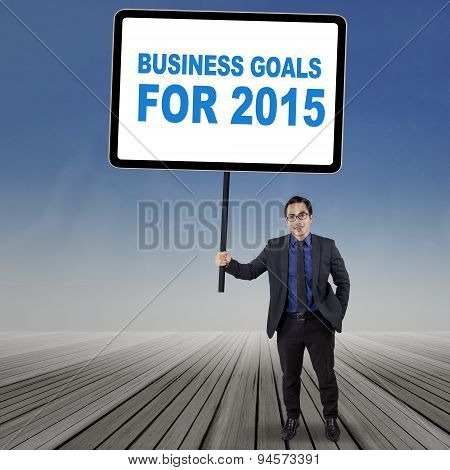 Young Employee With Business Goals For 2015