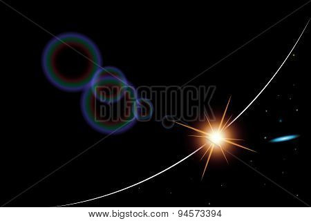 abstract background realistic sunrise in space,eps 10.