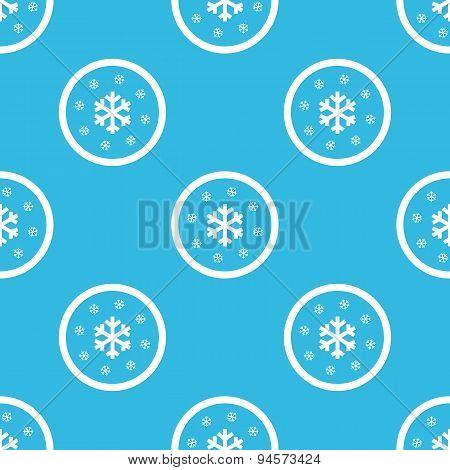 Snow sign blue pattern