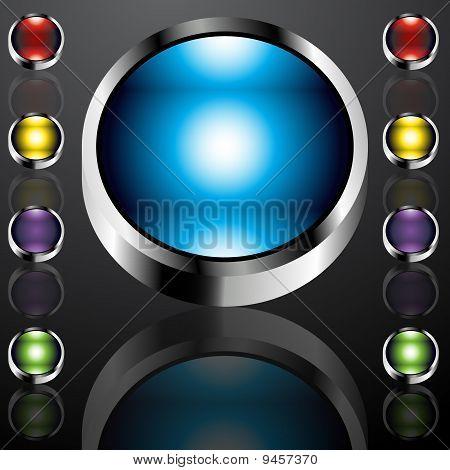 Big Chrome Buttons