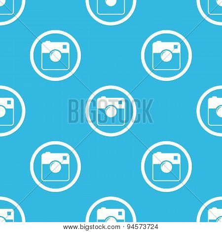 Square camera sign blue pattern