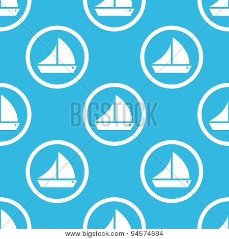 Sailing ship sign blue pattern
