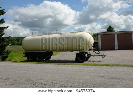 Tank Car Parked In The Summer