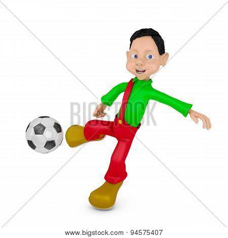 Boy And Ball