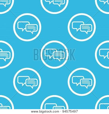Chatting sign blue pattern