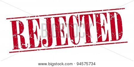 Rejected Red Grunge Vintage Stamp Isolated On White Background