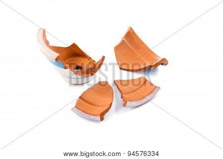 Fragments Of Broken Flower Pot