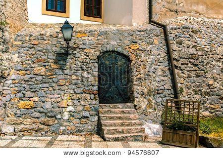 Medieval castle entrance.