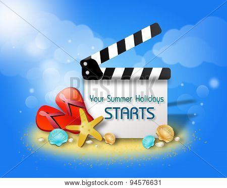 Summer Film Flap Greeting