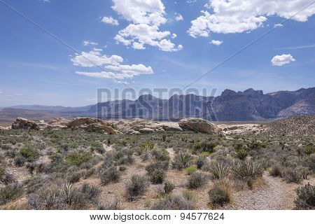 Rugged Valley Of Red Rock Conservation Area, Nevada