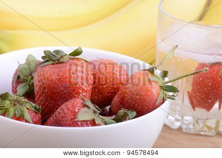 Healthy Strawberry With Fruits