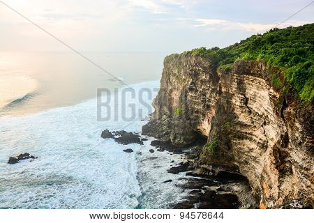 High Cliff At Uluwatu Temple, Bali, Indonesia