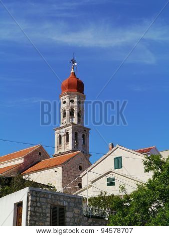 The campanile of the church of Betina