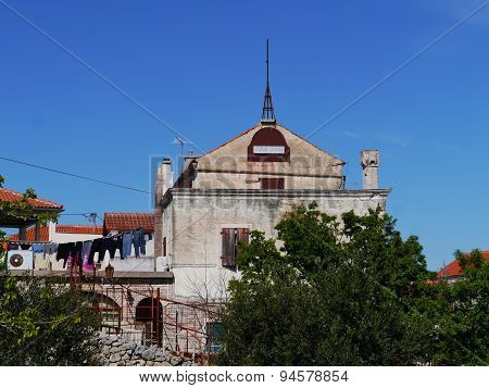 An old palace in the Croatian village Betina