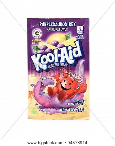 Package Of Purplesaurus Rex Flavored Kool-aid
