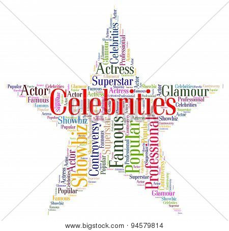 Celebrities Star Means Notorious Renowned And Celebrity