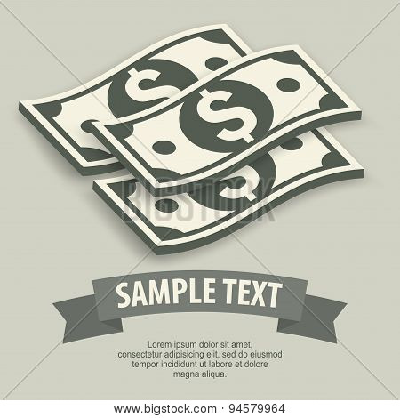 Paper Bank Notes & Text