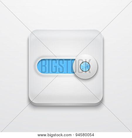Vector modern app icon on gray