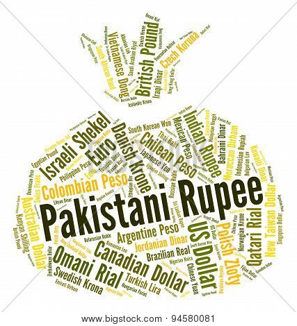 Pakistani Rupee Represents Forex Trading And Banknote