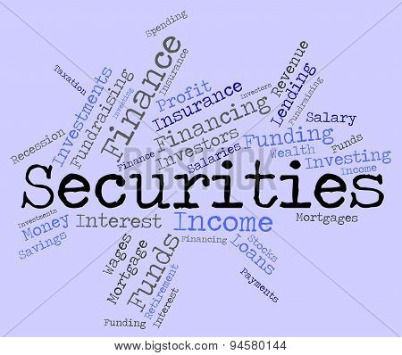 Securities Word Indicates Bad Debt And Arrears