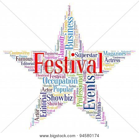 Festival Star Means Festivities Festivity And Festive