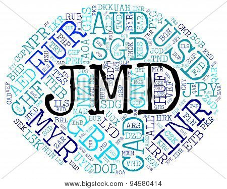 Jmd Currency Indicates Jamaican Dollar And Coin
