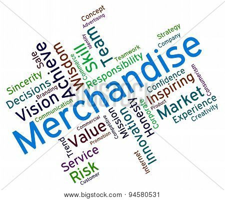 Merchantise Words Indicates Vending Vend And Sold