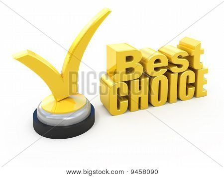 Best choice award isolated on white