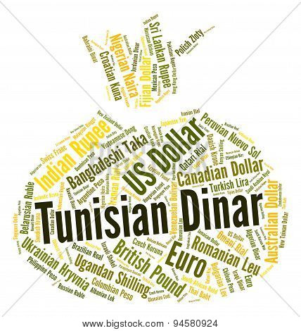 Tunisian Dinar Shows Worldwide Trading And Currencies