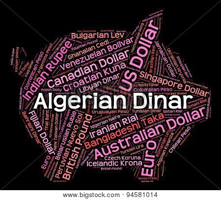 Algerian Dinar Means Foreign Currency And Coinage