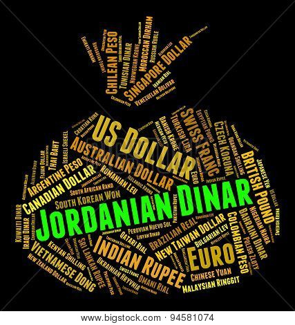 Jordanian Dinar Represents Forex Trading And Banknote