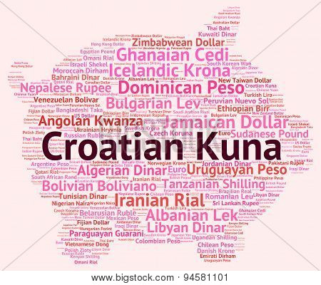 Croatian Kuna Means Foreign Exchange And Coin