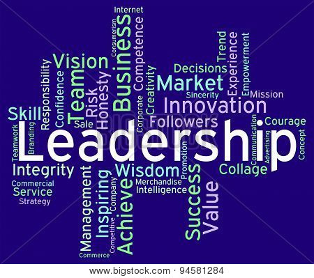 Leadership Words Represents Influence Guidance And Control