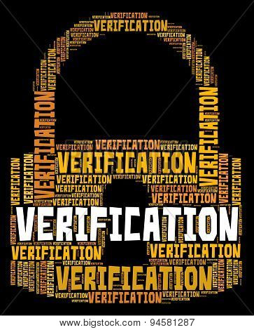 Verification Lock Shows Authenticity Guaranteed And Certified