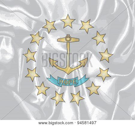 Rhode Island Silk Flag