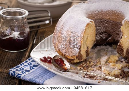 Ring Cake Sprinkled With Sugar