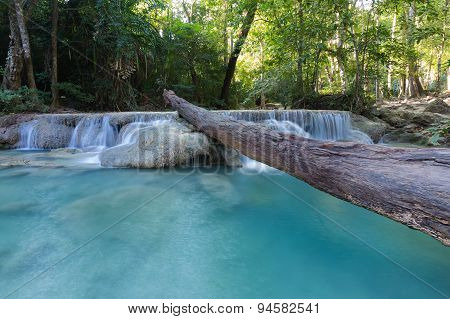 Deep forest water fall locate in north of Thailand National park