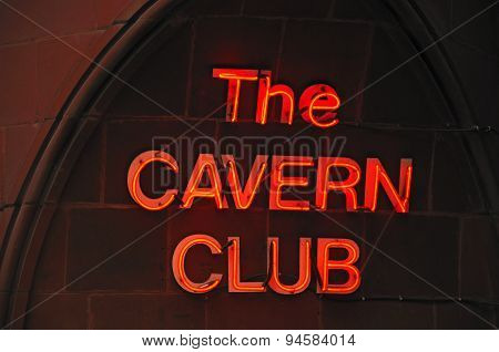 Neon Cavern Club Sign, Liverpool.