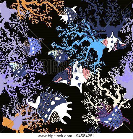Underwater life pattern.