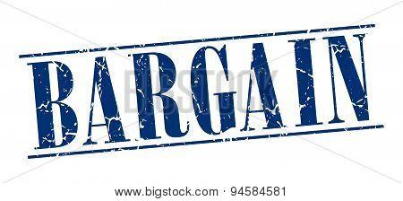 Bargain Blue Grunge Vintage Stamp Isolated On White Background