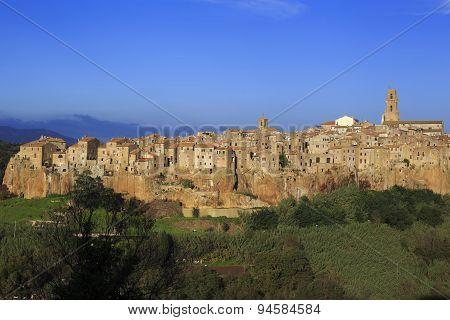 The Village Of Pitigliano In Tuscany