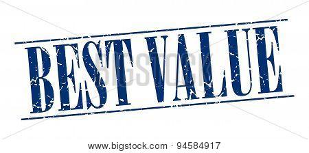 Best Value Blue Grunge Vintage Stamp Isolated On White Background