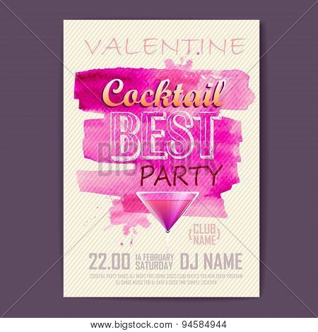 Valentine Disco Poster. Valentine Background