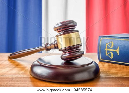 A Gavel And A Law Book - France