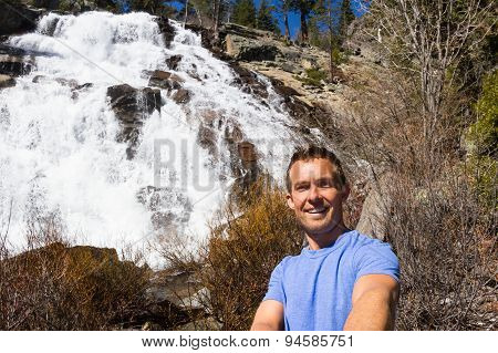 Selfie With A Waterfall